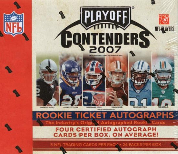 Hunt for Adrian Peterson Random Teams 2007 Playoff Contenders Football ID 07PLAYCONT102