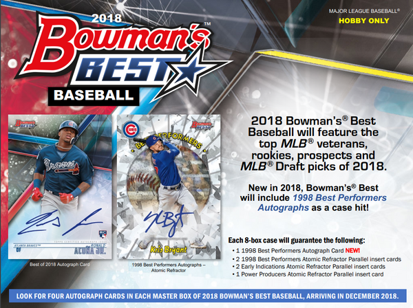 RANDOM TEAMS 2018 Bowmans Best Baseball Hobby Box ID 18BOWBESTRT205