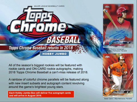 2018 Topps Chrome Baseball HTA JUMBO 25 total spots ID 18CHROMEBB113