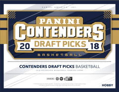 EVERYBODY GETS A PACK: 2018/19 Panini Contenders Draft Basketball ID 1819CONTDRAFTBSK101