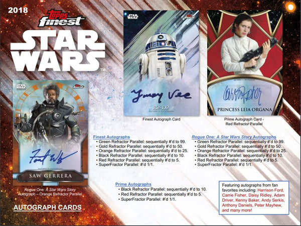 Everyone gets a pack: 2018 Topps Finest Star Wars Hobby Box ID 18FINESTARWARS104