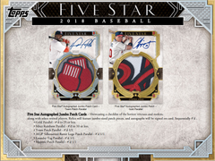 2018 Topps Five Star Baseball Hobby Box ID 18FIVESTARBB103
