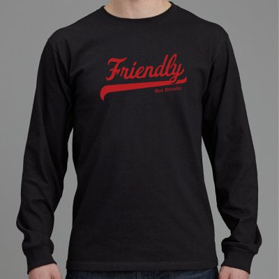 FRIENDLY Fruit of the Loom heavy cotton HD long sleeve T-shirt ID FRIENDLYLSBLT