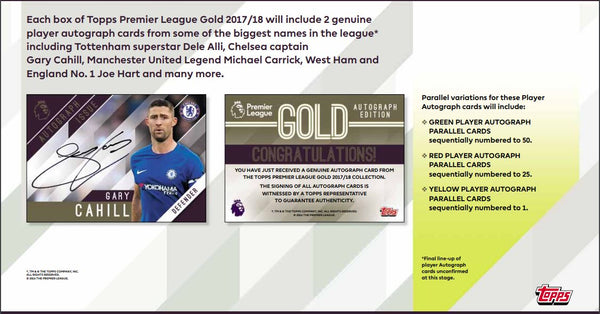 EVERYBODY GETS A PACK: 2018 Topps Premier Gold Soccer Hobby Box ID 18GOLDSOCCER101