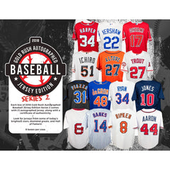 PICK YOUR TEAM: 2018 GOLD RUSH AUTOGRAPHED BASEBALL JERSEY EDITION SERIES 2 BOX ID 18GRBBPYT181