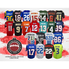 RANDOM TEAMS: 2018 GOLD RUSH AUTOGRAPHED FOOTBALL JERSEY EDITION SERIES 2 ID 18GRFTBALLRT307