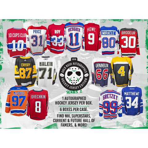 PICK YOUR TEAM: 2018 GOLD RUSH AUTOGRAPHED HOCKEY JERSEY EDITION SERIES 2 BOX ID 18GOLDRHOCKPYT112