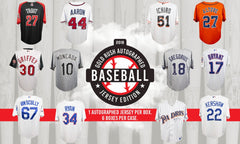 PICK YOUR TEAM: 2018 Gold Rush Autographed Baseball Jersey Edition Box ID 18GRBBJERSPYT220