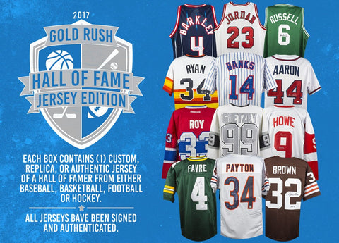 Tomorrow: 2017 Gold Rush Hall of Fame Jersey Edition ($9.99 per 8 checklist players, 20 total spots, 160 checklist players total) ID OCTGRFOOT107