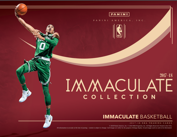 2017/18 Panini Immaculate Basketball Hobby Box SERIAL NUMBER BREAK ID IMMACBSKBLL500