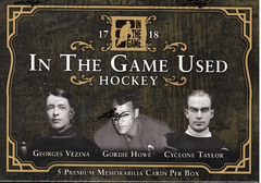 2018 Leaf In The Game (ITG) Game Used Hockey Box (10.99 Per Last Name Letter, 19 Total Spots) ID 18LITGUHOCK260
