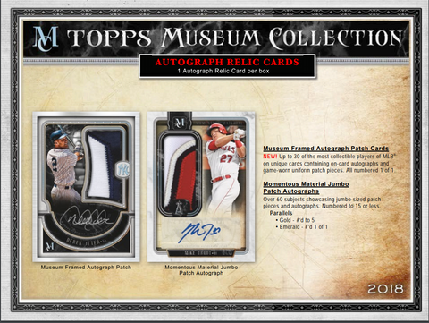 Coming Tuesday: 2018 Topps Museum Collection Baseball Hobby Box RANDOM TEAMS (26 TOTAL SPOTS) ID 18TOPSMUSBBRT621