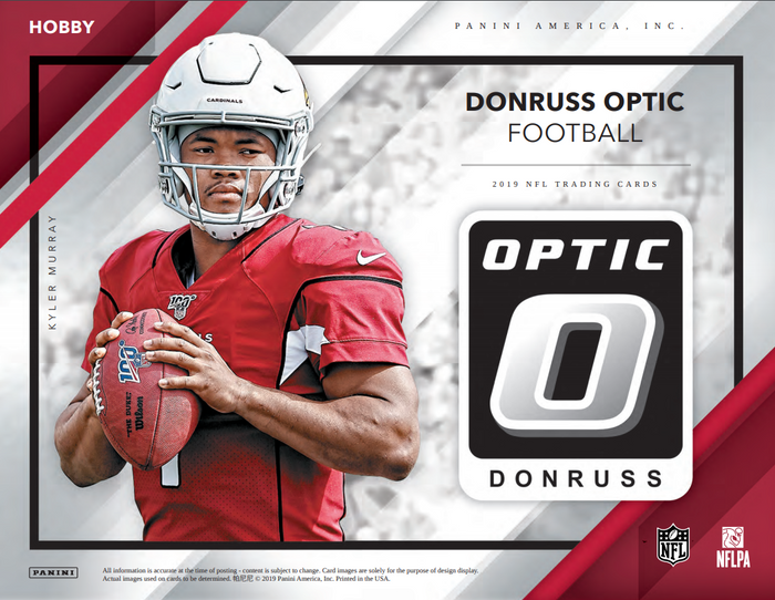 2 RANDOM TEAMS: 2019 Panini Donruss Optic Football Hobby Box ID 19DOPTICFB101