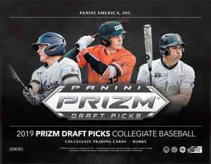 FIRST NAME LETTER BREAK: 2019 Panini Prizm Collegiate Draft Picks Baseball Hobby Box ID DRAFTPANPRIZ0201