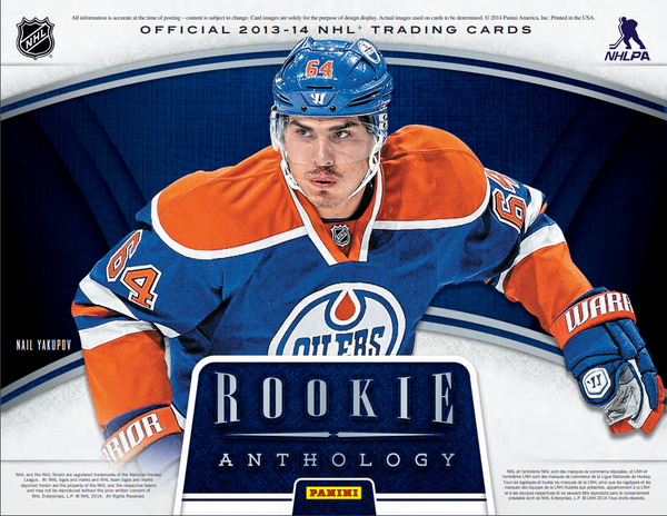 PACK RIP: PICK YOUR OWN PACK NUMBER 2013/14 Panini Rookie Anthology Hockey Hobby Box ID 1314PRARYPNHOCK0303