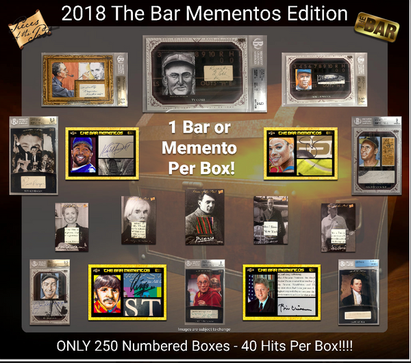 EVERYONE GETS 2 HITS!! 2018 The Bar Mementos Edition ID 18SUPBRKMEMRHB204