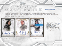 Loose Box 2018 Topps Star Wars Masterwork Hobby Box (PLEASE READ BREAK DESCRIPTION) ID 18STARMASW121