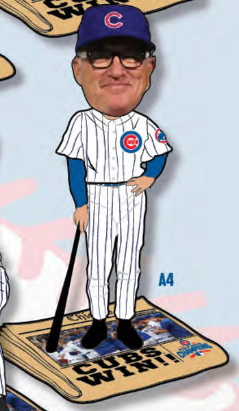 Cubs World Series Champs Newspaper Bobblehead Maddon ($59.99)