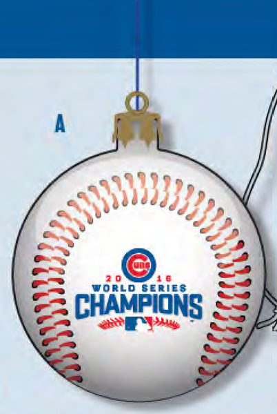 Cubs World Series Champ Glass Ball Ornament ($19.99)
