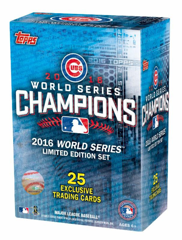 2016 Topps Chicago Cubs World Series Box Set (Release 12/15, ships in time for Christmas) $19.99