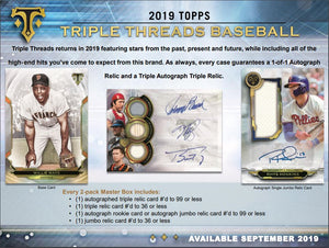 RANDOM FORMAT: BOX 1 OF 9 2019 Topps Triple Threads Baseball ID 19TTTBB230