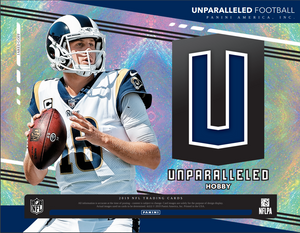2 TEAM RANDOM FORMAT: 2019 Panini Unparalleled Football Hobby Box ID 19UNPFB2T662
