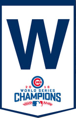 "2016 World Series Chicago Cubs ""W"" World Series Banner"