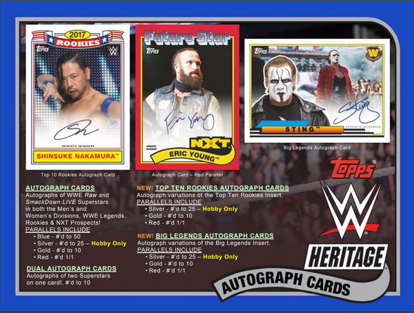 Everybody Gets A Pack 2018 WWE Heritage ID 18WWEHERITAGE101