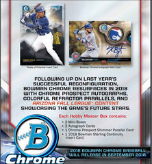 PICK YOUR TEAM: 2018 Bowman Chrome Hobby Baseball ID 18BOWCHRHOB122