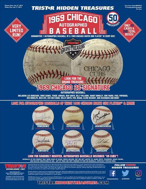 2019 Tristar Hidden Treasures 1969 Chicago Autographed Baseball ID 19CHIBALLS101