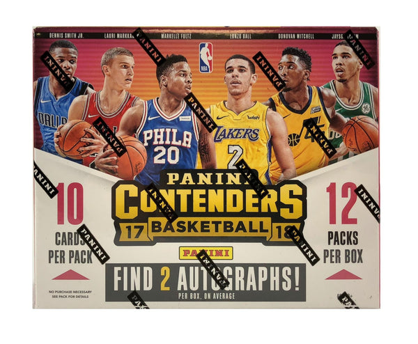Loose Box: 2017/18 Panini Contenders Basketball Hobby Box ($10.75 Per Team, 28 Total Spots) ID 18CONTENBB202