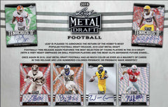 2019 Leaf Metal Draft Football Hobby Box ID 19LEAFHOBFB202