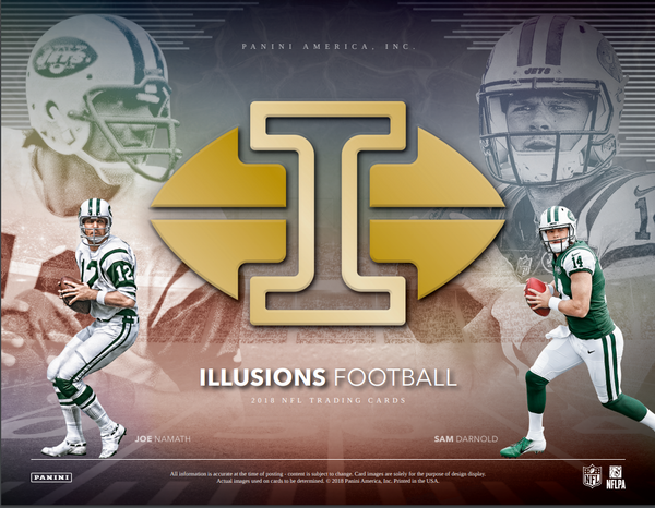 PICK YOUR TEAM: 2018 Panini Illusions Football Hobby Box (GIANTS BONUS RANDOM) ID PANILLFBPYT113