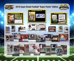2018 Super Break Super Pack Football 20th Anniversary Ed ID SBFB20TH109