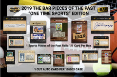 2019 Super Break Pieces of the Past One Time Sports Edition Box ID SBPOPSPORTS133
