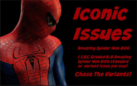 Iconic Issues: Amazing Spider Man 800, $9.50 per artist variant, 19 total spots ID IISPIDERMAN800119