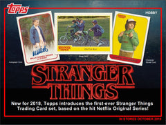Thursday: EVERYBODY GETS A PACK 2018 Topps Stranger Things Hobby Box ID STRANGERT104