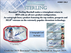 2 RANDOM TEAMS: 2019 Bowman Sterling Baseball Hobby ID 19STERLINGBB581