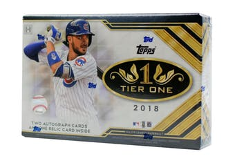 2018 Topps Tier One Baseball Hobby Box, (29 Spots, $6.50 per team) ID 18MLBTONE117