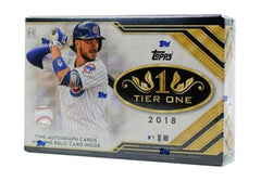 2018 Topps Tier One Baseball Hobby Box, (29 Spots, $6.50 per team) ID 18MLBTONE115