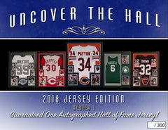 2018 UNCOVER THE HALL Multi sport Autographed Jersey (7.99 for 4 Checklist Players, 24 TOTAL SPOTS 96 CHECKLIST PLAYERS) ID 18UTHJERS124