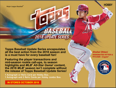 Oct 22: RANDOM TEAMS SET BUILDERS REJOICE 2018 Topps Update Baseball ALL CARDS SHIP Jumbo 6 box case break ID 18TOPPSUPDATECS101