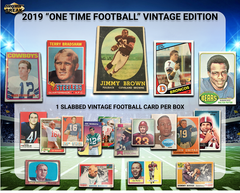 2019 Super Break One Time Vintage 20th Anniversary Edition Football Box ID SBVINTAGEFB110