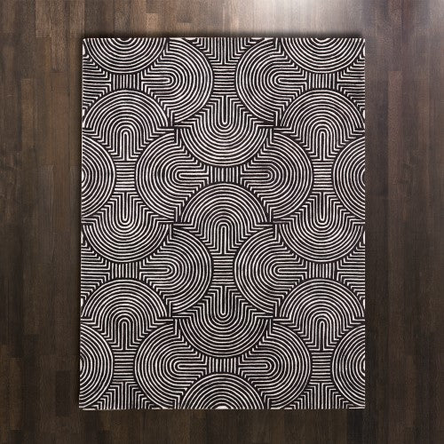 Arches Rug-Black/Ivory - 4 Sizes - Grats Decor Interior Design & Build Inc.