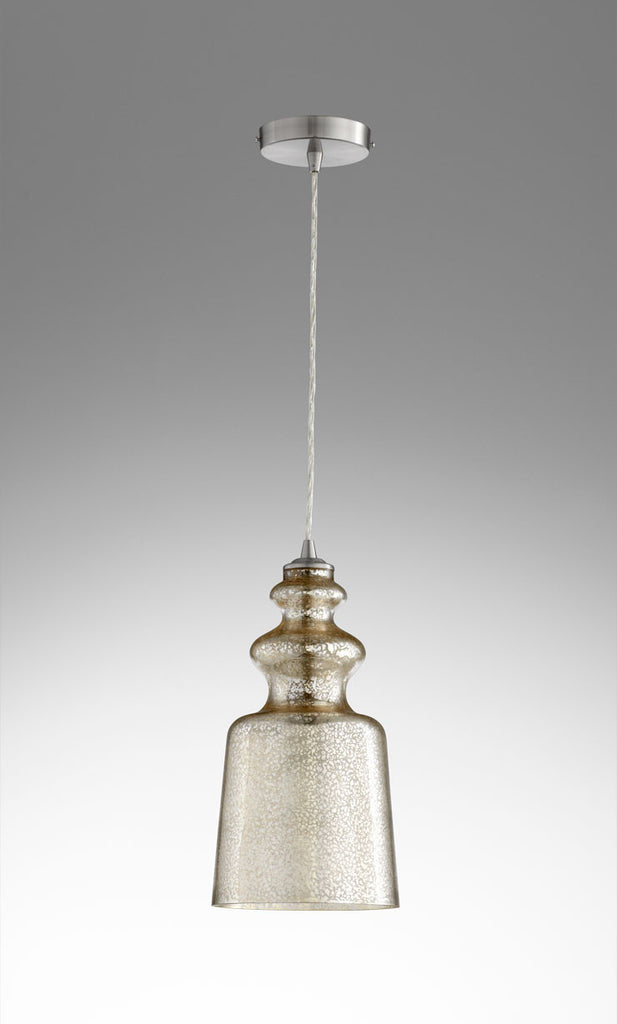 "Leone 8""Dia Pendant - Silver Mercury Glass - Grats Decor Interior Design & Build Inc."