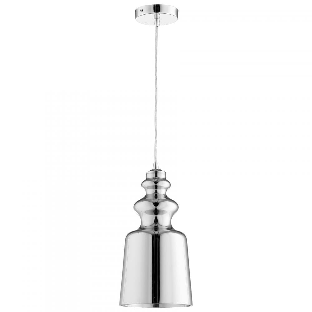 "Leone 8""Dia Pendant - Mirrored Glass - Grats Decor Interior Design & Build Inc."