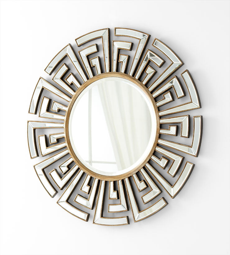 "Cleopatra 47""Dia Mirror - Grats Decor Interior Design & Build Inc."