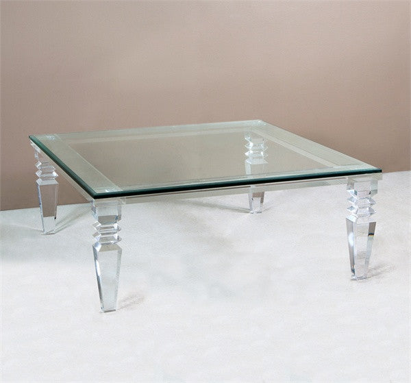 Acrylic Amp Glass 40 Quot Coffee Table Square Grats Decor