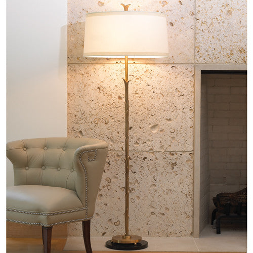 Organic Floor Lamp - Antique Brass Finish - Grats Decor Interior Design & Build Inc.