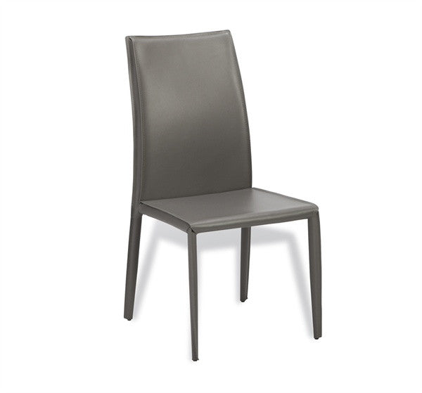 High Back Dining Chair S/2 - Gray